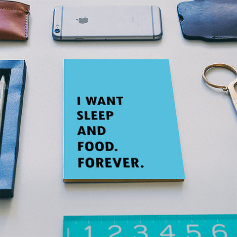SLEEP AND FOOD. Notebook | Artist : Shruti aggarwal