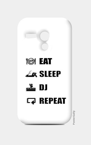 Moto G Cases, EAT SLEEP DJ REPEAT (WHITE) - Moto G | Artist : DJ Ravish, - PosterGully