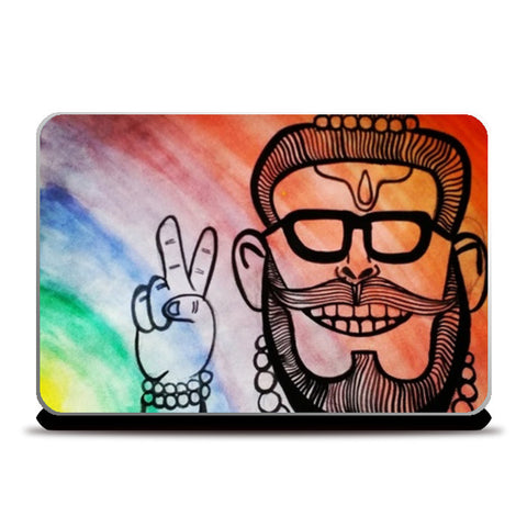 swagger baba Laptop Skins | Artist : being_legen_dary