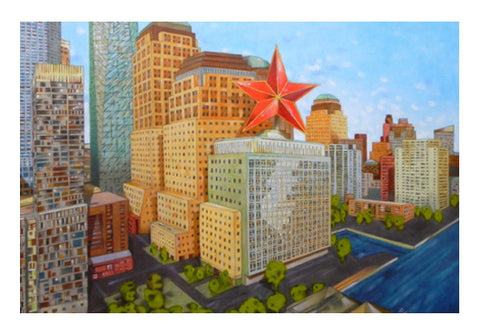 Wall Art, the red star Wall Art  | Artist : federico cortese, - PosterGully