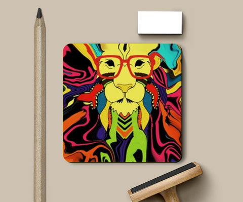 50 shades of Leo  Coasters | Artist : nilesh gupta