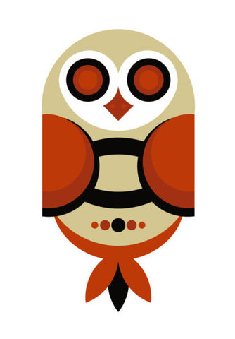 Geometric Owl Art Art PosterGully Specials