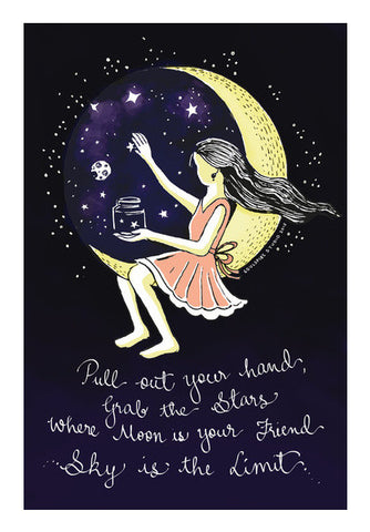 Wall Art, The Dream ygirl Series 'Sky is the Limit' Wall Art | Artist : Deepti Pa, - PosterGully