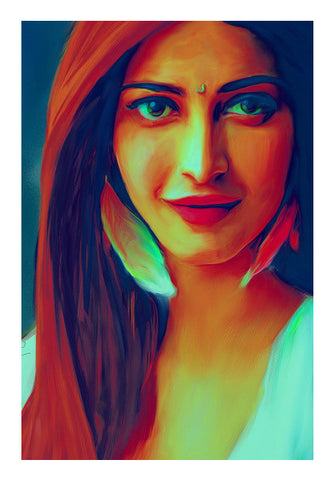 Shruti Hassan Wall Art | Artist : Delusion