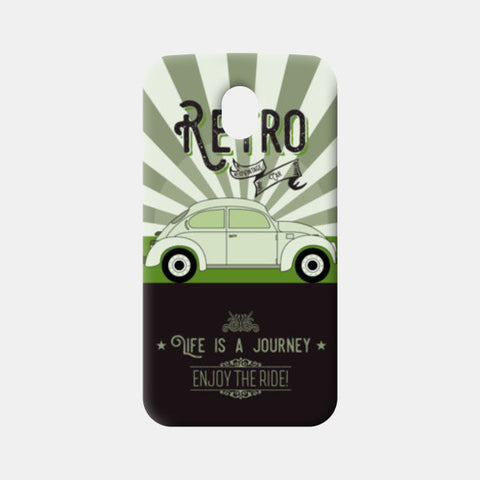 Retro vintage car on green Moto G3 Cases | Artist : Designerchennai