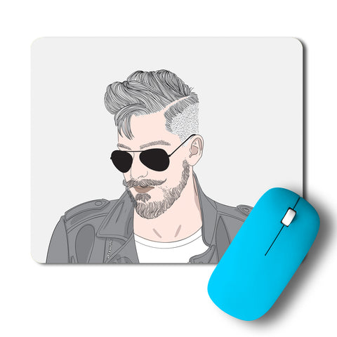 Hot Guy Beard And Sexy Mousepad