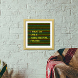 Music is life Premium Square Italian Wooden Frames | Artist : Pallavi Rawal