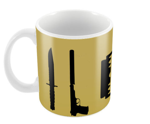 Guns and Blades Coffee Mugs | Artist : Rishabh Tripathi