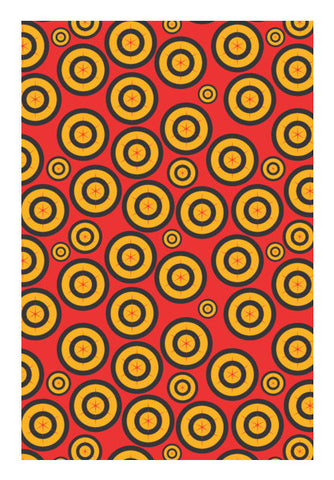 Retro Circle Abstract Design Wall Art | Artist : Designerchennai