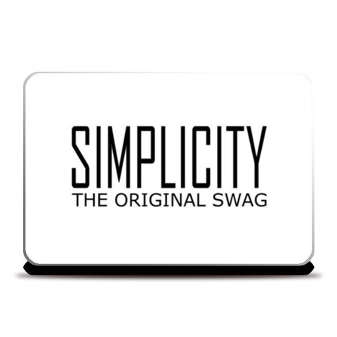 simple is swag 2 Laptop Skins | Artist : Keshava Shukla