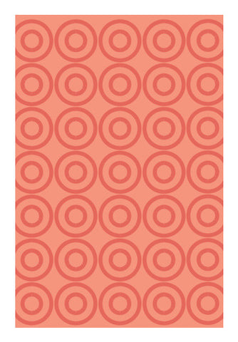 Light Orange Circle Abstract Pattern Art PosterGully Specials