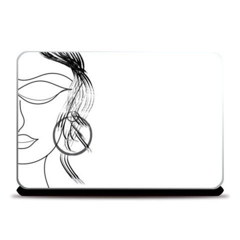 Paris Lady Laptop Skins | Artist : Srikanth R