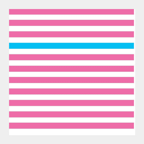 Happy Stripes 2 Square Art Prints | Artist : Vaishak Seraphim
