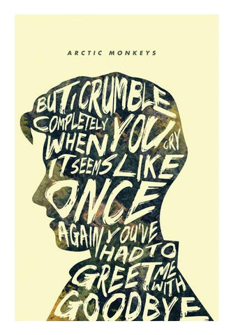 PosterGully Specials, Arctic Monkeys Poster #2 Wall Art | Artist : Vijay Sarathy, - PosterGully