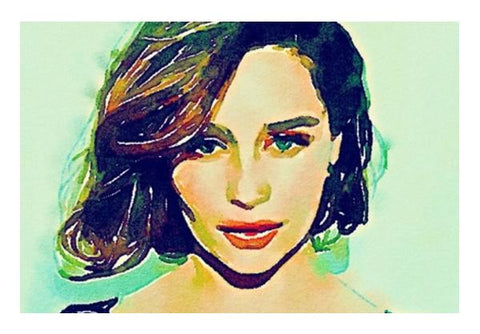 PosterGully Specials, Emilia Clarke Wall Art  | Artist : Delusion, - PosterGully