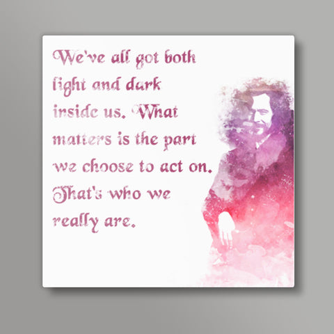 Harry Potter-Sirius Black quote Square Metal Prints | Artist : Naeema Rezmin
