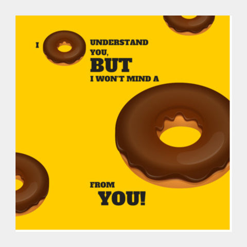 Square Art Prints, I donut understand you |  Square Art Prints | Artist : Nikhil Wad, - PosterGully