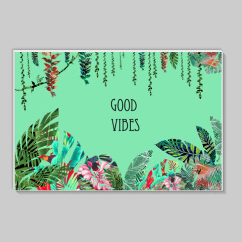 Good Vibes, a fresh look to your wall with tropical prints  Stick Ons | Artist : All the randomness