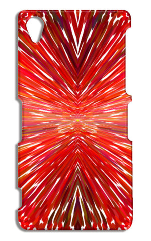 Abstract Red Burst Modern Design Sony Xperia Z2 Cases | Artist : Seema Hooda