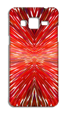 Abstract Red Burst Modern Design Samsung Galaxy J5 Cases | Artist : Seema Hooda
