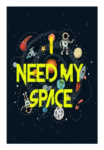 PosterGully Specials, Privacy - I need my space Wall Art | Artist : Manju Nk, - PosterGully