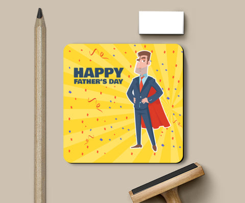 Super Dad With Superhero Look Father's Day | #Father's Day Special  Coasters | Artist : Creative DJ