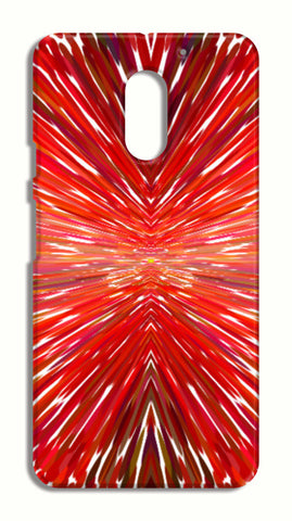 Abstract Red Burst Modern Design LeEco Le2 Cases | Artist : Seema Hooda