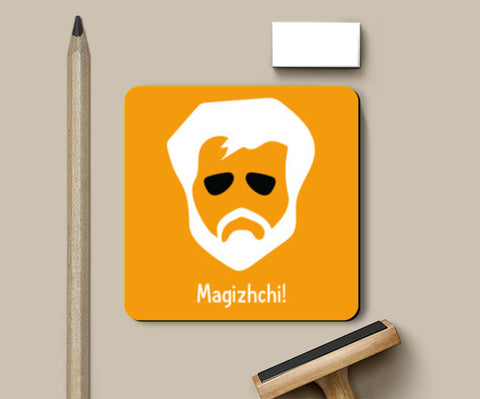 Kabali - Super Star (Yellow) Coasters | Artist : Kaagidham