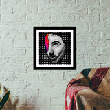Few Colors In Life Premium Square Italian Wooden Frames | Artist : Archana Aravind