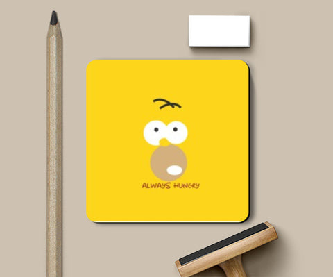 Coasters, Always hungry homer Coasters | Artist : Shravan Suresh, - PosterGully