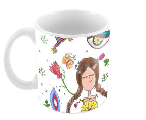 Girly moemnt Coffee Mugs | Artist : saji kennedy