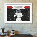 Astronaut - Ground control to Major Tom Premium Italian Wooden Frames | Artist : C-zure