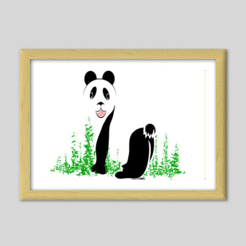 THE PANDA is a symbol of gentleness and strength. it is an auspicious symbol of peace, harmony Premium Italian Wooden Frames | Artist : amit kumar