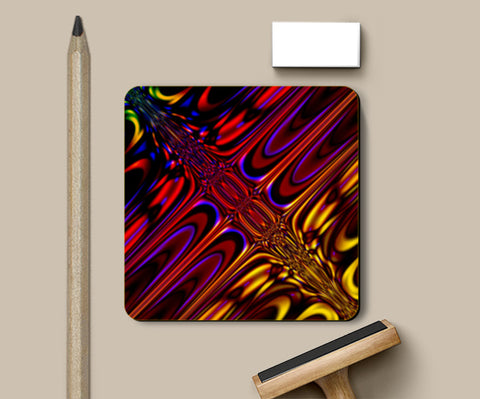 PosterGully Coasters, Psychedelic reflections ! Coasters | Artist : Jessica Maria, - PosterGully