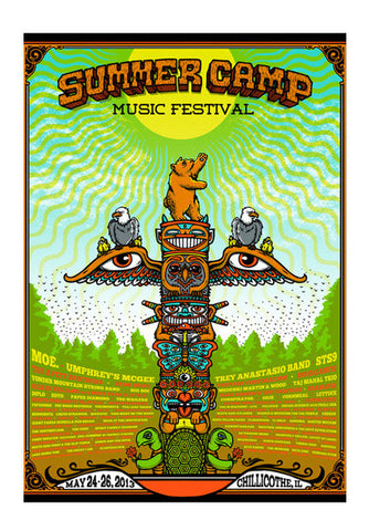 Summer Camp Music Festival Poster Wall Art | Artist : GABAMBO
