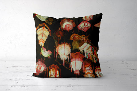Chinese Lanterns  Cushion Covers | Artist : Tara Isha