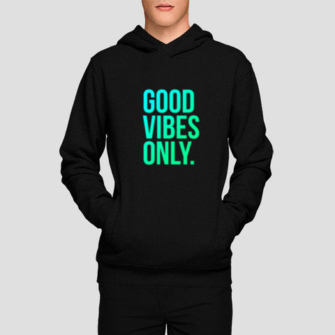 Hoodies, Good Vibes Only Typo Hoodies | Artist : Joven Roy, - PosterGully - 1