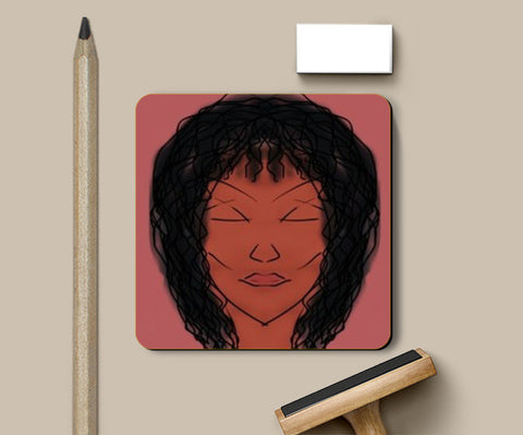 Those cheekbones Coasters | Artist : Trusha Navalkar