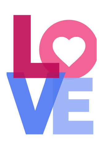 Love Typo Art PosterGully Specials