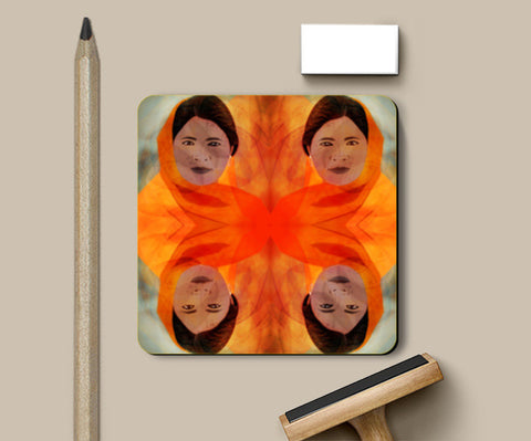 Becoming The Fire - Indian Woman Coasters | Artist : Rameshwar Chawla
