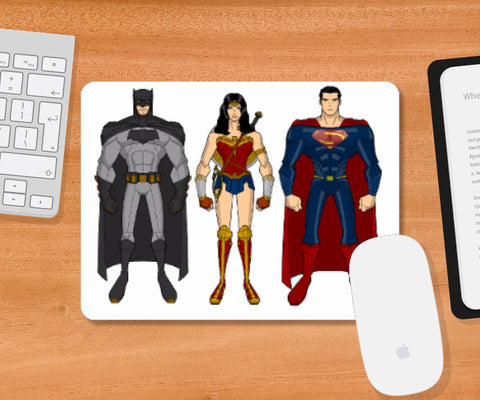 Mousepad, The DC Trinity Mousepad | Ehraz Anis, - PosterGully