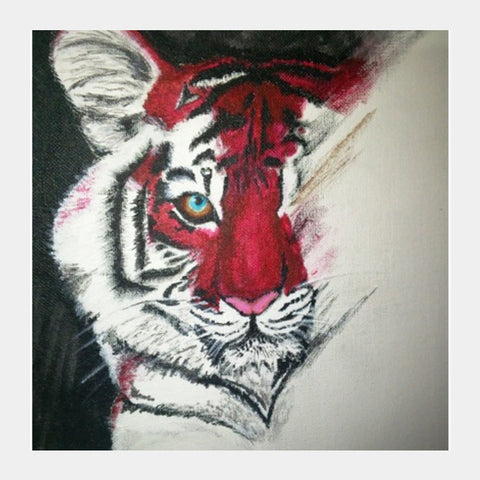 Square Art Prints, Save The Tiger  Square Art Prints | Artist : Aashna Aasif, - PosterGully