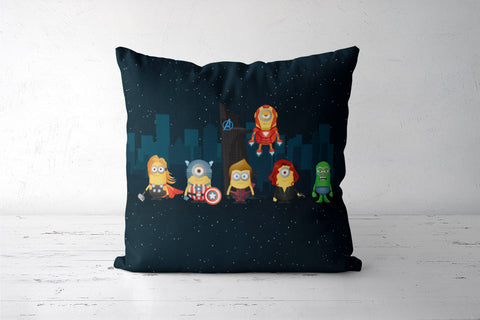 Minion Avengers Night Cushion Covers | Artist : Ronak Mantri