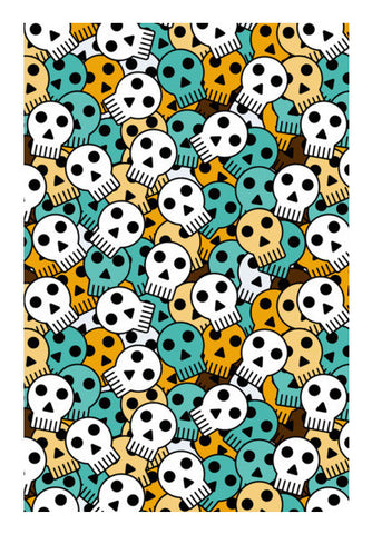 Funky Skull Halloween Seamless  Art PosterGully Specials