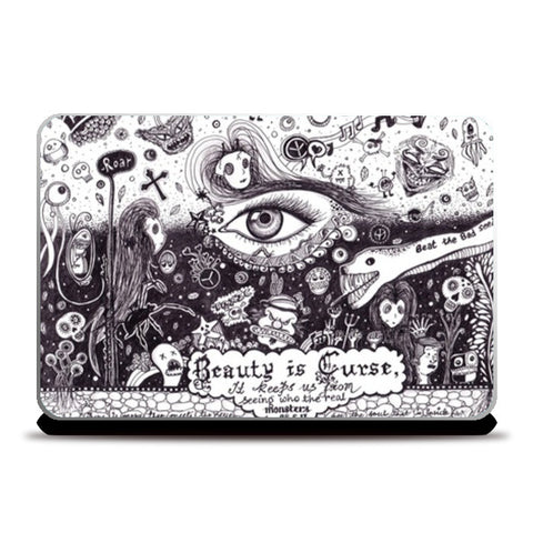 Laptop Skins, Beauty is a curse Laptop Skins | Artist : Madhurima Biswas, - PosterGully