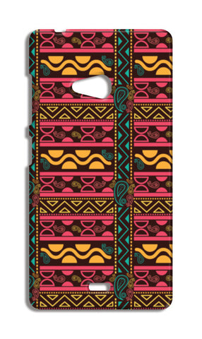 Abstract geometric pattern african style Nokia Lumia 540 Cases | Artist : Designerchennai
