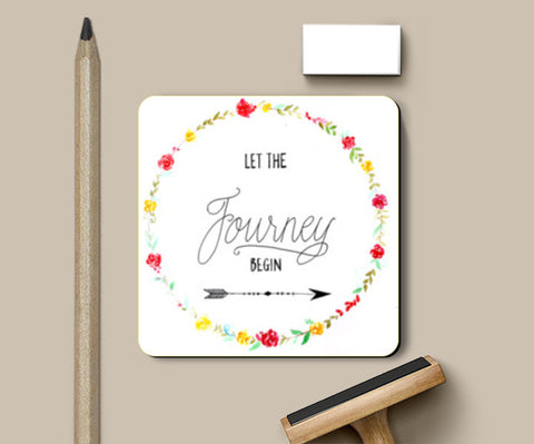 Let the journey begin Coasters | Artist : Anjali Nilakantan