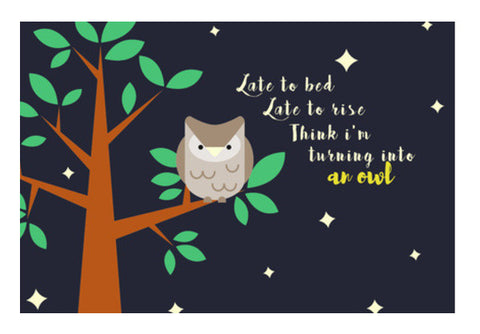 NIGHT OWL Wall Art  | Artist : PUJA KUMAR