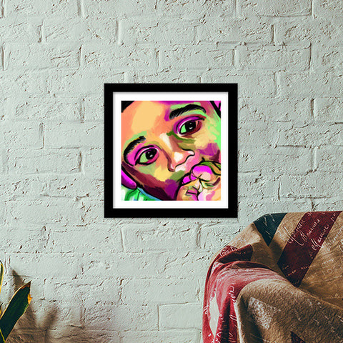 INNOCENCE #baby #kids #colorful #portrait #people #painting #sketches # Premium Square Italian Wooden Frames | Artist : Jessica Maria