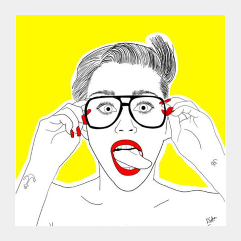 PosterGully Specials, Miley Cyrus Square Art Prints | Artist : DISHA BHANOT, - PosterGully